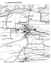 5) Herzwil 2000: 7 Landwirtschaftsbetriebe, 50 Einwohnerinnen und Einwohner