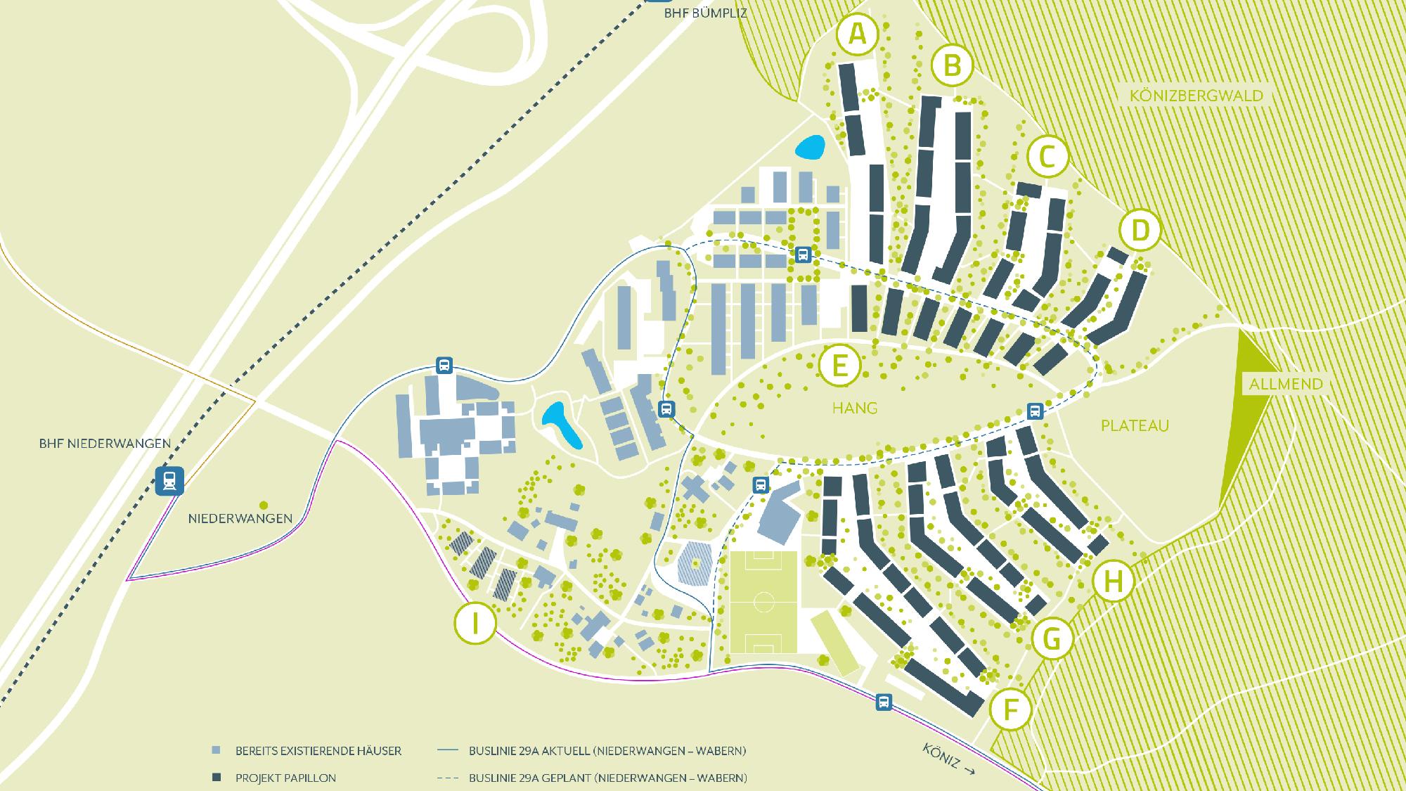 Plan Ried Quartier Papillon Niederwangen