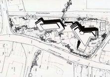 4) Siegerprojekt Wettbewerb 1968 mit Verwaltungsgebäude