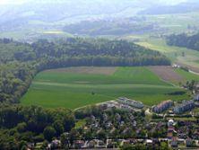 1) Luftfoto Ried 2004 mit Könizbergwald