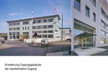 """5) """"Neue Adresse"""" dank Erweiterung Zugangsgebäude"""