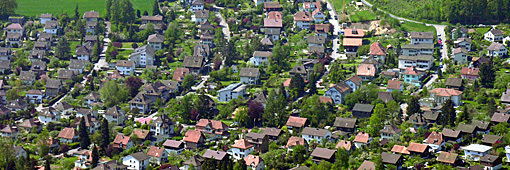 Gartenstadt, Luftfoto 2004